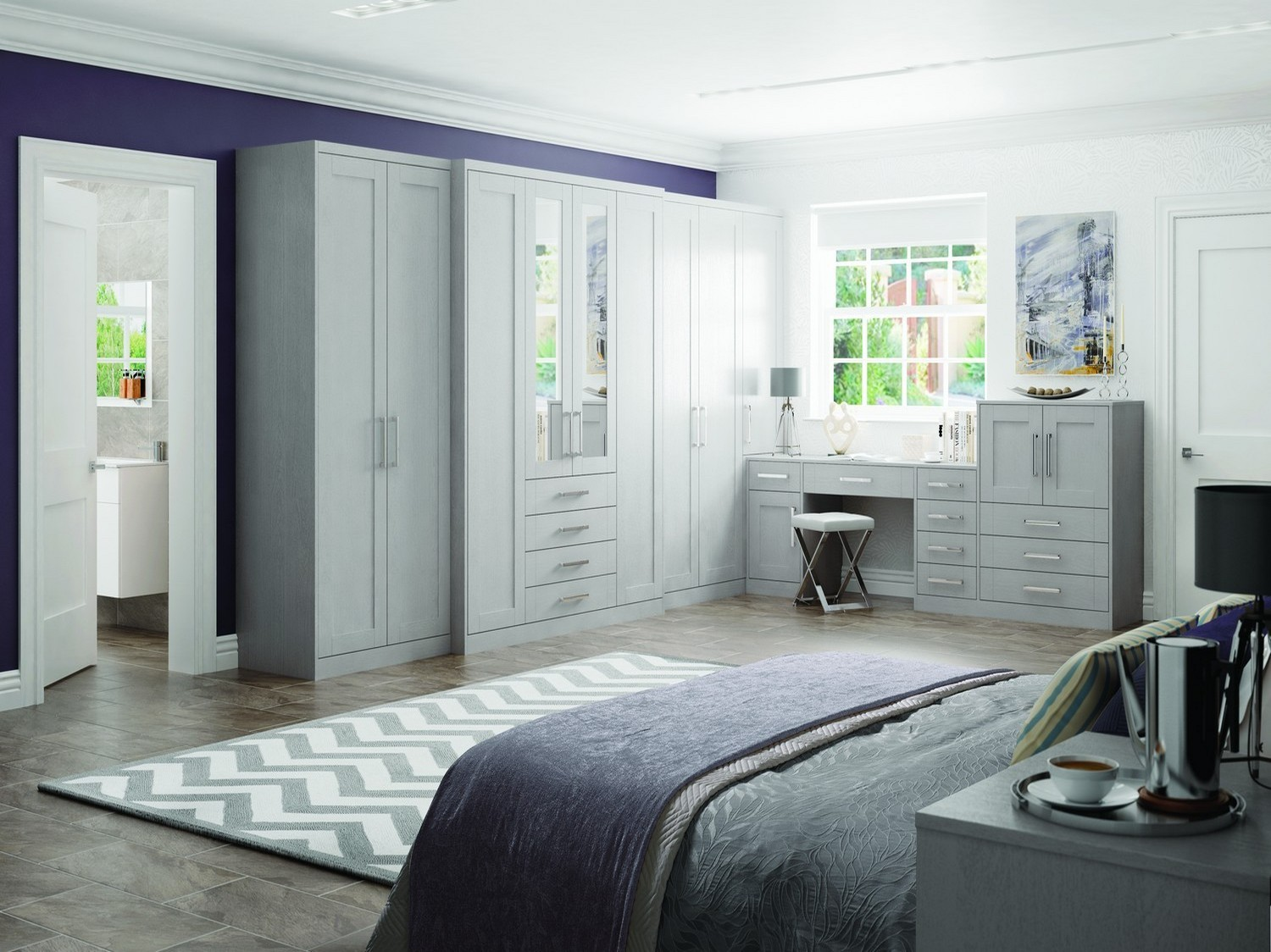 fitted bedrooms liverpool. Larger Built In Bedroom Furniture Set Finished Light Grey With Feature Mirrors And Mirror Handles \ Fitted Bedrooms Liverpool