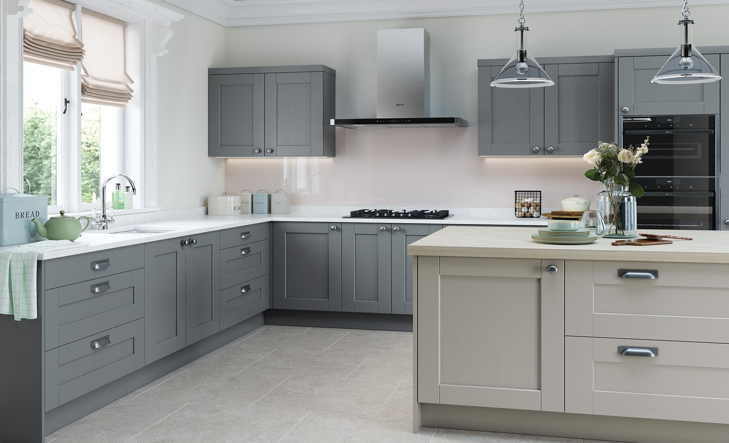 Contemporary Kitchens Liverpool Cleveland Kitchens - Slate grey kitchen units