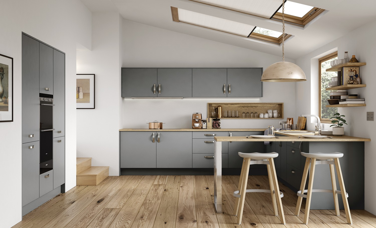 Contemporary kitchens liverpool cleveland kitchens for Quirky modern kitchen