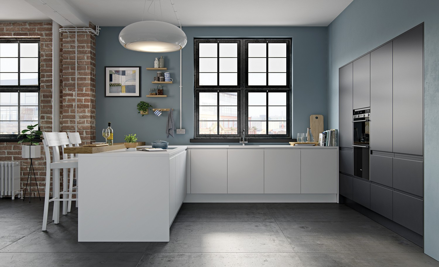 Modern Kitchens Liverpool Cleveland Kitchens - Anthracite grey kitchen