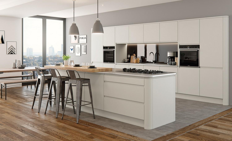 Matt Porcelain Kitchen Design For A Client In Knowsley Whose Brief Was A  Modern Kitchen Design