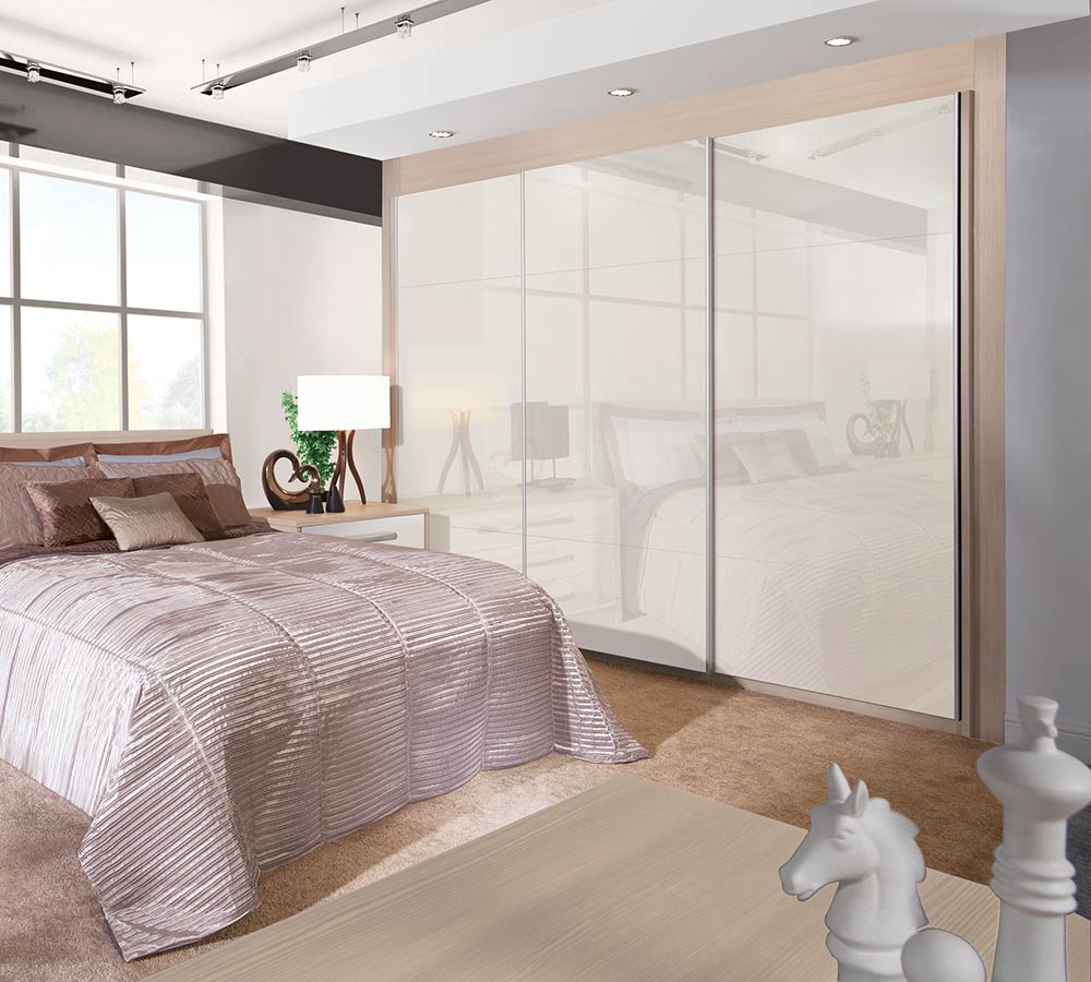 Sliding wardrobe design and supply Liverpool, we supply a range of different styles include matt, gloss and shaker.