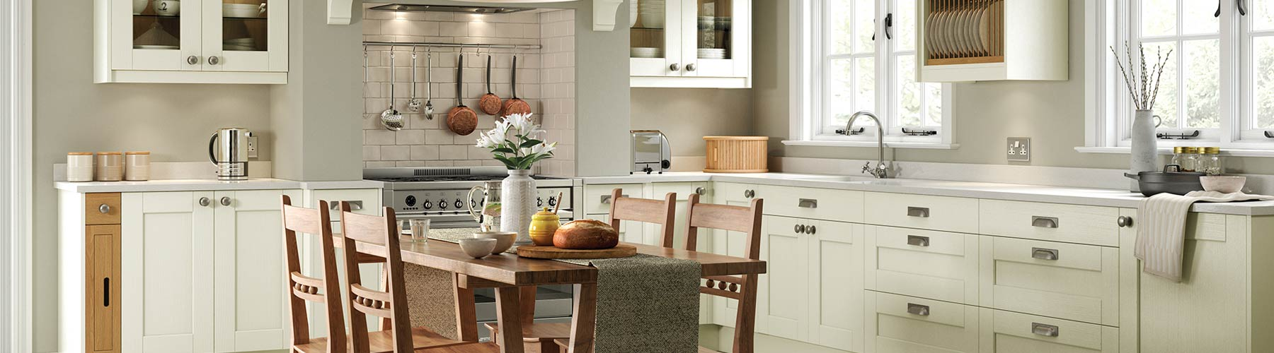 Classic Ivory shaker kitchen, from our classic kitchen range.