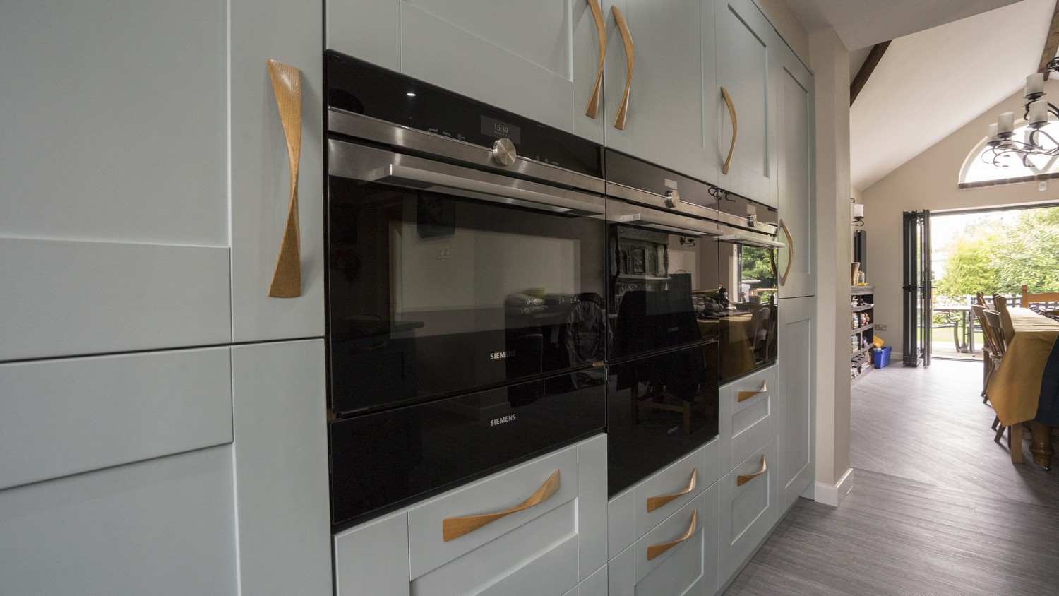 Close up of the Integrated appliances installed in the Wigan kitchen.